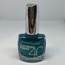 Maybelline New York Express Finish 40 Nail Varnish Polish 865 Turquoise Green