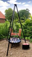 Grill Schwenkgrill Feuerschale mit Topf und 2 Flammlachs-haltern 2341