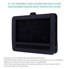 "9""- 9.5"" portable case holder for DVD player Car headrest mount Strap Cover Bag"