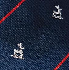 Vintage tie Hertford vintage 1970s white deer club animal stag POOR condition