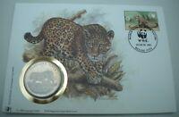 1992 OFFICIAL WWF  BELIZE THE JAGUAR MEDAL COVER PNC WITH COA