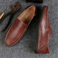 Men's Genuine Leather Casual Slip On Loafer Moccasins Soft Breathable Shoes