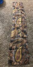 "Jones New York 100% Silk Brown Tan Floral Flower Print 57"" Square Scarf"