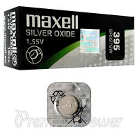 1 x Maxell 395 Silver Oxide battery 1.55V SR57 SR927SW 399 Watches 0% Mercury