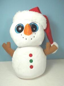 """9"""" Ty Plush Beanie Boo Snowman, """"Scoop"""""""