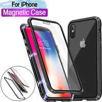 360 Protective Magnetic Shockproof Phone Case Cover For iPhone 7/8 X XS MAX & XR