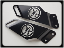 Heel Plates for YAMAHA FZR600 - 1989 to 1999, FZR 600 R Footpeg Guards - Black