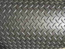 """1/8"""" Diamond Plate Poly Rubber Mat Flooring 7' long x 4' wide, 3.175 mm"""