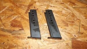 2 - Walther P-38 - factory NEW 8rd magazines mags clips - 9mm   (W111*)