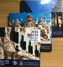 More details for malta coins set x3 2016 2017 2018 year sets official issue new bunc