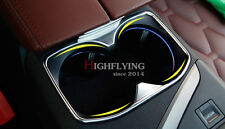 For Peugeot 3008 GT 2016 2017 Interior Console Cup Holder Cover Trim Steel