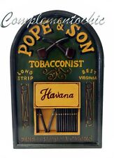 Tabella pub sigari Pope &Son Havana targa legnoinsegna arredo pub taverna