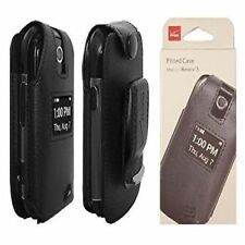 Verizon OEM Fitted Leather Case w/ Clip for LG Revere 3 - Black - NEW !!!