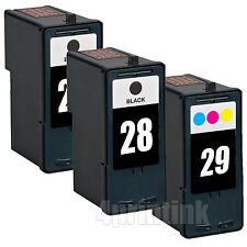 3 Pack 28 29 Remanufacutred Ink Combo Fits Lexmark Z845 Z1300 Z1310 Z1320