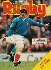 RUGBY No 914 Mar/Apr 1991 OFFICIAL MAGAZINE OF THE FFR - FRANCE