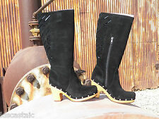 New Womens UGG Rumer Black Suede Tall Boots Size US 7 UK 5.5 EU 38