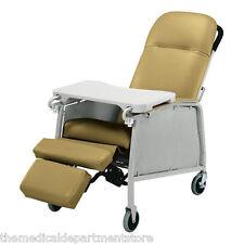 Lumex 574G Three 3 Position Recliner Geri Chair - Vintage Gold