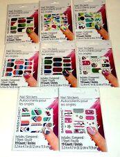 1 Verpackung Sassy + Chic Nagel Sticker Verschiedene Farben & Muster Nib #1