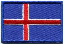 Flag of Iceland ensign embroidered applique iron-on patch Medium new S-1250