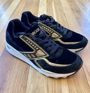 Brooks Heritage Men's Regent Black & Gold Running Shoes Men's Size 10