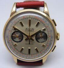 Reloj De Pulsera edición Limitada De Caballero Vintage 9 CT Oro Avia Cronógrafo Circa década de 1960