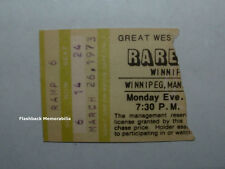 RARE EARTH 1973 Concert Ticket Stub WINNIPEG ARENA MANITOBA Canada VERY RARE
