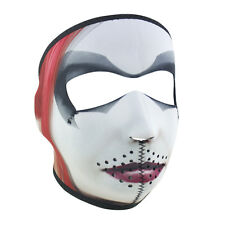 Harley Quinn Full Face Reversible Neoprene Motorcycle Winter Ski Mask +