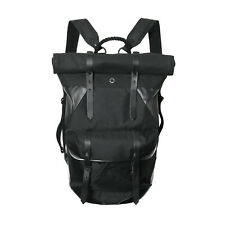 Stighlorgan Ronan Laptop Backpack In Black Core D7 Poly Canvas With Rolling Top