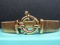 VTG  Vicenza Italy gold vermeil 925 sterling silver toggle bracelet 7 1/2 inches