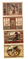 1921 Germany SAALFELD A SAALE  Full set of   75  Phennig Notgeld UNC