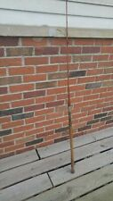 """Vintage Split Bamboo Casting Rod 2 pc 61"""" Brass Reel Seat Agate Guides Nice Look"""