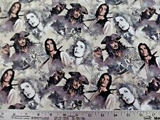 PIRATES OF THE CARIBBEAN SEA RULES ALL PHOTOS 100% COTTON FABRIC BY 1/2 YARD