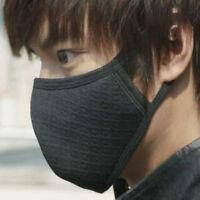 2Pcs Men Women Black Health Cycling Anti-Dust Cotton Mouth Face Mask Respirator