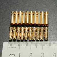 20x 3.5mm Gold-plated Bullet Banana Connector Plug Male & Female for RC Battery