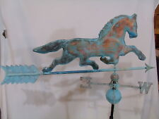LARGE Copper HORSE Weathervane has Patina Finish with FREE ROOF MOUNT !!!