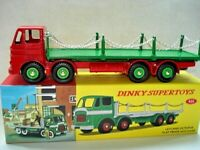 Atlas Dinky Supertoys No.935 Red / Green Leyland Flat Chains Truck Mint / boxed