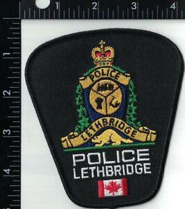Lethbridge Police Canada Alberta Police Patch Canada