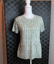 Womans Anthropology Pilero  Size M  Cotton Blend Short Sleeve Top