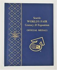 1962 Seattle World's Fair Century 21 Expo Official Silver Medals Set of 9 Mint