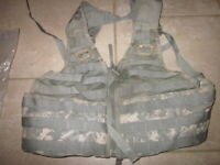 Tactical Army Vest Official US Military MOLLE ACU FLC Fighting Load Carrier
