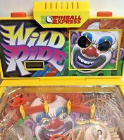 """Vintage Electronic Table Top LCD PINBALL EXPRESS Machine """"Wild Ride"""" Clown"""