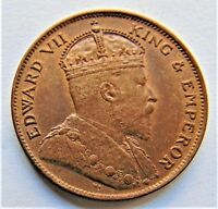 1909 JERSEY Edward VII, 1/24 Shilling (1/2 Penny)  grading UNCIRCULATED.