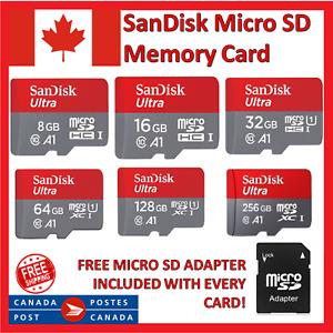 SanDisk Micro SD Memory Card High Speed TF 16GB 32GB 64GB 128GB 256GB MicroSD