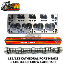 Performance Cathedral Port Heads (Pair) for Holden LS1 LS2 + Choice of Crow Cam
