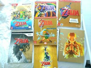 Batch of 7 Zelda strategy / game guides. Nintendo. Worth £200 individually.