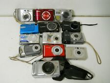 Lot of 13 Digital Cameras for Parts & Repair Canon Nikon Samsung Lumix Sony Svp
