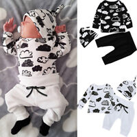 ⭐Newborn Infant Baby Girl Boy Cloud Print T Shirt Tops+Pants Outfits Clothes Set
