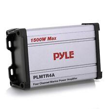 Pyle  PLMTR4A 1200W 4-Channel Marine Waterproof Boat Amplifier Receiver