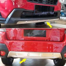 S. Steel Front +Rear Bumper Guard Cover Plate fits Subaru XV/Crosstrek 2018-2020