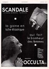 1934 AD FRENCH SCANDALE GIRDLE OCCULTA MAGIC PHOTO TULLE ELASTIQUE